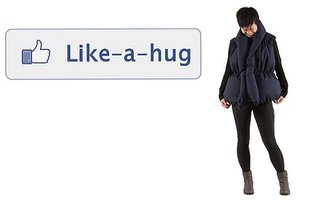 Facebook jacket hugs you every time you get a 'like'