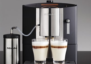 Miele CM5200 Barista Machine has a double spout for simultaneous coffee making