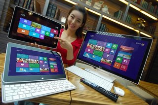 LG shows off Windows 8 sliding tablet and 24-inch all-in-one PC