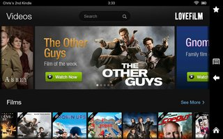 lovefilm for kindle fire hd pictures and hands on image 2