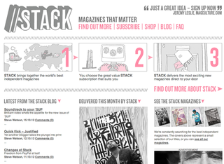 WEBSITE OF THE DAY: Stack Magazines