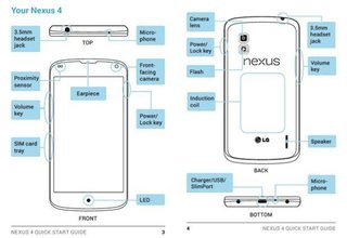 Nexus 4 manual leaked on LG's official website, reveals wireless charging