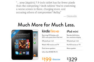 Amazon takes dig at Apple over iPad mini