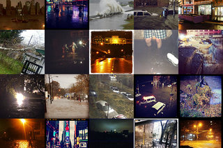 Instagram users tell the story of Hurricane Sandy, over 10 pictures posted per second