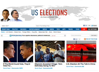 WEBSITE OF THE DAY: Huffington Post US Elections