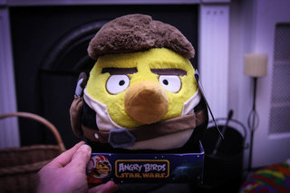 Angry Birds 8-inch Star Wars Plush - Hans Solo pictures and hands-on