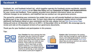 The Facebook site governance vote email explained