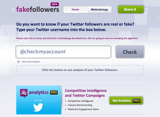 WEBSITE OF THE DAY: Fake Followers