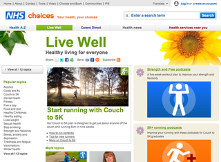WEBSITE OF THE DAY: NHS Live Well