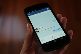 Facebook for Android native app gains voice messages