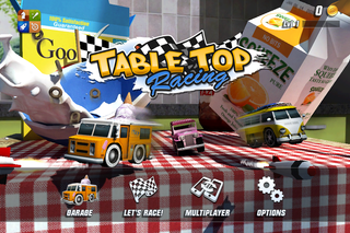 app of the day table top racing review iphone  image 1