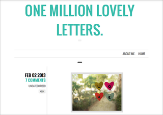 WEBSITE OF THE DAY: One Million Lovely Letters