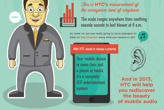 HTC infographic hints at improved audio for HTC One, digs at Siri too