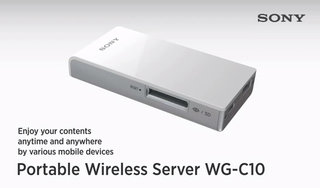 Sony Portable Wireless Server lets you manage content, acts as back-up battery