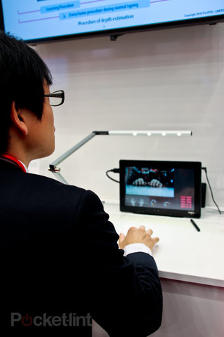 fujitsu gesture keyboard for tablets and smartphones works from existing camera image 4