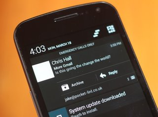 Gmail for Android updated with reply and archive email from notifications, improved search