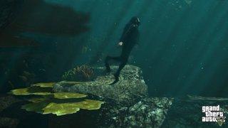 New GTA V screens released, scuba diving, sky diving and other stuff that isn't diving