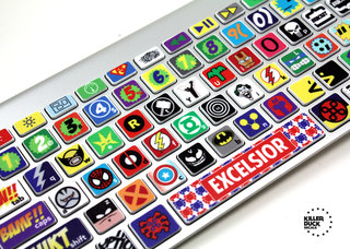 Kerpow! The Macbook Keyboard Super Hero Skin