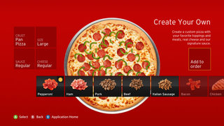 Pizza Hut for Xbox app on its way with Kinect control, double pepperoni at the wave of a hand