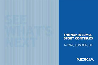 New Nokia Windows Phone to be announced at 14 May London event