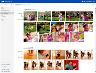 Microsoft adds timeline view to SkyDrive photos for easy sorting