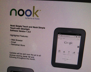 Barnes and Noble bringing web browser and email to Simple Touch eReaders