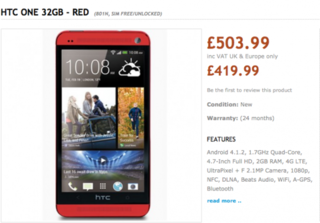 blue htc one to launch alongside red version image 2