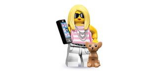 Lego minifigs use Android smartphones