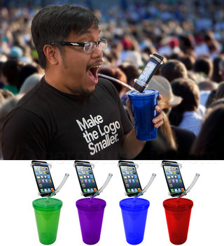 Cell Phone-Holder Party Cup lets the socially inept multitask