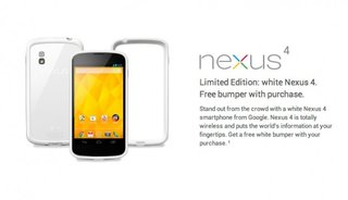 LG's white Nexus 4 lands in US