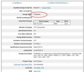 htc one mini m4 listed in bluetooth sig certification results image 2