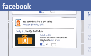 Amazon introduces social Birthday Gift cards, lets Facebook friends contribute money