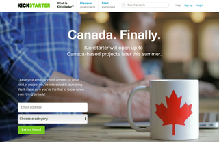 Kickstarter to launch in Canada later this summer