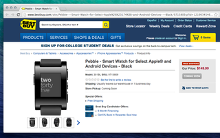 Pebble exclusively launches through Best Buy online and US stores