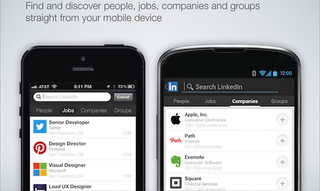 LinkedIn for iOS and Android expands search to jobs, companies and groups