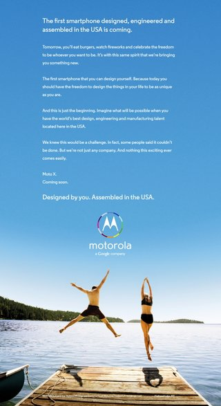 motorola teases upcoming moto x smartphone in new ad boasts customisation and usa roots image 2