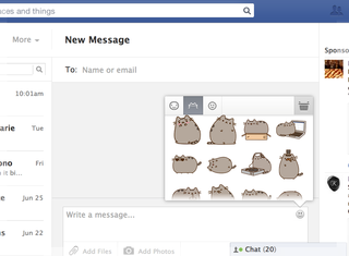 Facebook brings mobile stickers to web