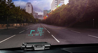 Garmin HUD projects road directions on to your windscreen