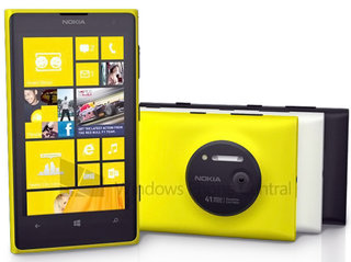 Nokia Lumia 1020 render shows yellow, white and black colour options