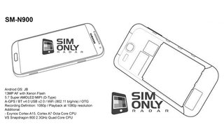 Samsung Galaxy Note 3 appears in alleged schematics