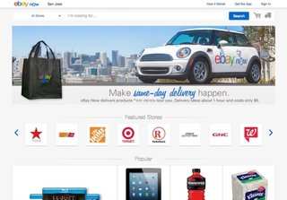 eBay Now arrives on desktop, expands US coverage for one-hour delivery