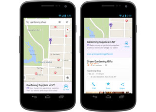 Google Maps app now includes relevant ads in search results