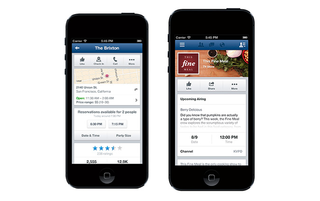 Facebook adds restaurant reservations to mobile apps through OpenTable