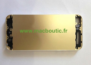 Gold iPhone 5S shell leaked - alongside component parts?