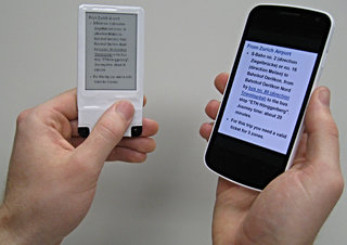 NFC-powered companion E Ink display demonstrated