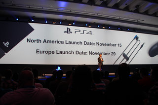 Sony PlayStation 4 release date: 15 November US, 29 November UK and Europe