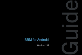BBM for Android and iOS user guides leak ahead of release