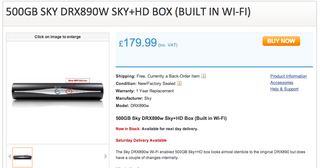 Sky+ HD Box with Wi-Fi surfaces with a reasonable price tag