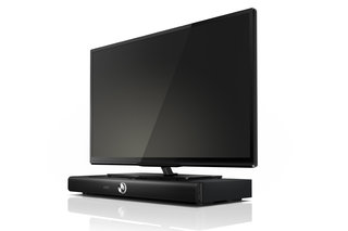 Philips SoundStage: Compact speaker system in a TV pedestal, integrated Blu-ray player optional