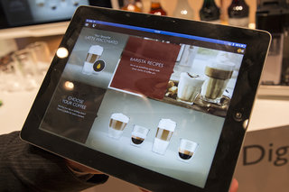 smart coffee via ipad we make our favourite cup using a saeco granbaristo avanti bluetooth prototype image 2